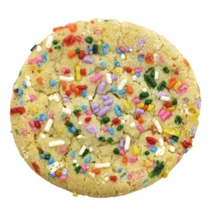 Sugar Cookie With Colorful Sprinkles