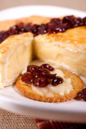 Baked Brie with Raspberry Preserves