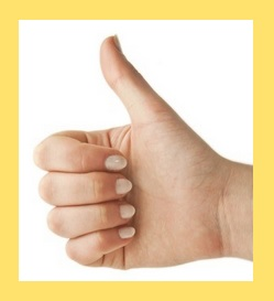 Thumbs up w yellow border